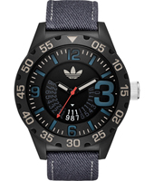 ADH3156 Newburgh Black & blue sport fashion watch with date