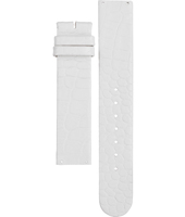 A3114-09 3114-09 White leather strap without clasp/buckle