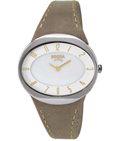 3165-17  36mm Beige Oval Titanium Lady Watch