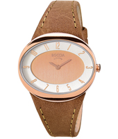 3165-18  36mm Rose Gold Oval Titanium Lady Watch