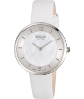 3244-01  34mm White Thin Titanium Ladies Watch