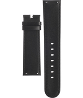 A3514-01 3514-01 22mm Black Leather Strap without Buckle