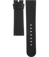 A3514-09 3514-09 22mm Black Leather Strap without clasps