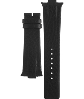 A3519-02 3519-02 28mm Black leather strap without buckle/clasp