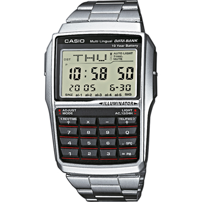 Casio DBC-32D-1AES Silver Retro Calculator watch