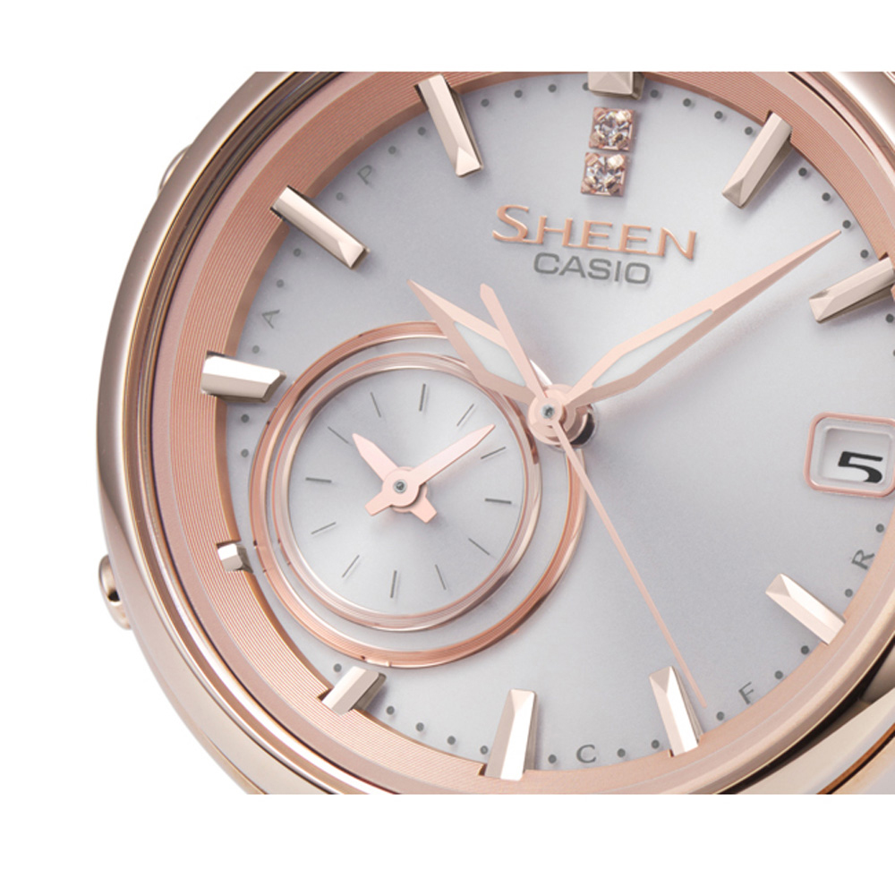 Montre Casio Couleur Or se rapportant à montre casio shb-100cg-4aer - time rings