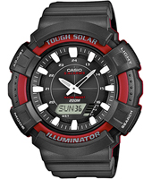 AD-S800WH-4AVEF Tough Solar 20 Bar 51mm Black & Red Ana-Digi Watch