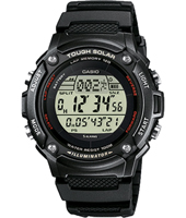 W-S200H-1BVEF  44.60mm Solar Runners Lap Timer Watch