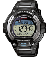 W-S220-1AVEF  49.80mm Solar Runners Lap Timer Watch