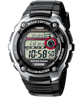 WV-200E-1AVEF  47.70mm Black Radio Controlled Watch