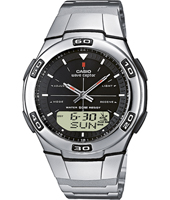 WVA-105HDE-1AVER  41.40mm Silver Radio Controlled Watch