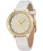 R7251571504 JC01 38mm Gold ladies watch with embossed leather strap