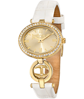 R7251214502 Just Icon 32mm Gold and white ladies costume watch