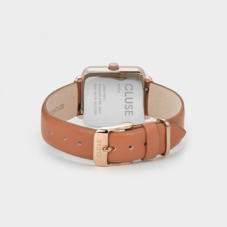 Square Ladies Quartz Watch on Leather Strap Collection Automne-Hiver Cluse