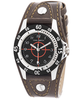 110027 Bull's Eye Brown Boys Cuff Watch