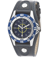 110028 Bull's Eye Black & Blue Boys Cuff Watch