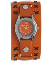 CW.304 Digi Numbers Brown Kids Cuff Watch