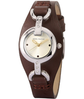 CW.128 Shiny Brown Kids Cuff Watch