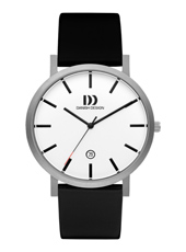 IQ12Q1108  40mm Titanium & white design watch with date
