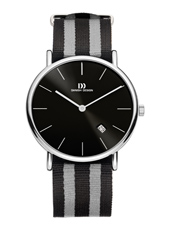 IQ13Q1048   38mm Steel & Black Watch with Date on NATO Strap