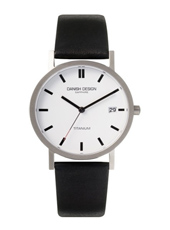 IQ14Q323   35mm Titanium & White Watch with Sapphire Crystal on Black Strap