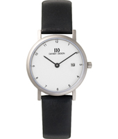 IV12Q272   27mm Tititanium & White Watch on Black Leather Strap