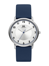 IV22Q1104  35mm Steel ladies watch, blue leather strap