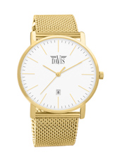 davis2044 Charles 40mm Thin Classic Gents Quartz Watch