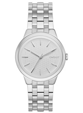NY2381 Parkslope Silver Ladies Watch With Steel Bracelet