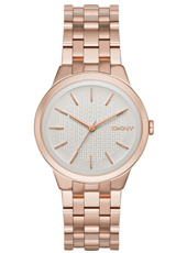 NY2383 Parkslope Rose gold ladies watch with steel bracelet
