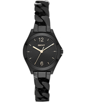 NY2426 Parsons Mini Black ladies watch with steel bracelet