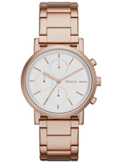 NY2275 Soho Chrono  Rose Gold ladies chronograph With Steel Bracelet