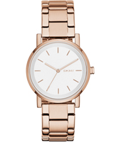 NY2344 Soho Basic rose gold ladies watch with link bracelet