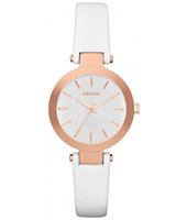 NY2405 Stanhope Mini Rose Gold & White Ladies Quartz Watch