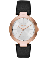 NY2468 Stanhope Rose Gold & Black Ladies Watch