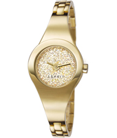 ES107252002 Lilith Dazzle  26mm Gold Ladies Watch with Crystal inlayed Dial