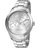 ES107282001 Lily Dazzle  38mm Silver Ladies Watch with Crystal Decorated Dial