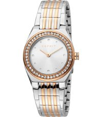 Gold Ladies Silver Spot Two Rose Watch Tone 76gvmfyIYb