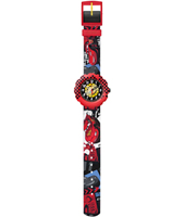 FLSP002 Cars Lightning McQueen Red kids watch with cars