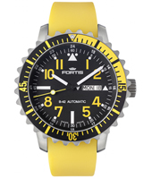 670.24.14 Marinemaster Yellow 42mm Swiss Made Automatic Diving Watch