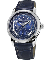 FC-718NWM4H6 Worldtimer 42mm Swiss Automatic Watch with Dual Time