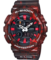 GAX-100MB-4AER G-Lide Special Color 51.20mm Big Red Ana-Digi G-Shock Watch