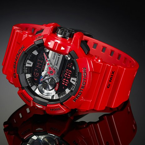 montre casio g shock rouge