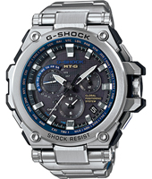 MTG-G1000D-1A2ER Metal Twisted G 53.50mm Silver & blue radio controlled watch with GPS