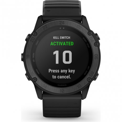 Tactical outdoor GPS smartwatch with stealth functionality Collection Printemps-Eté Garmin