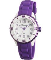 KV27Q444 Girl Trend   Purple & White Synthetic Girls Watch