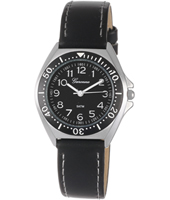 KV13Q456 Just Like... Black Aluminium watch with leather strap