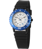 KQ12Q453 Trendy Scuba Blue Sport Style Kids watch with Silicone strap