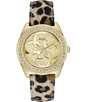 W0627L7 Cena 40mm Gold Ladies Watch with Panther Strap