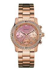 W0774L3 Confetti 38mm Rose Gold Ladies Watch with DayDate